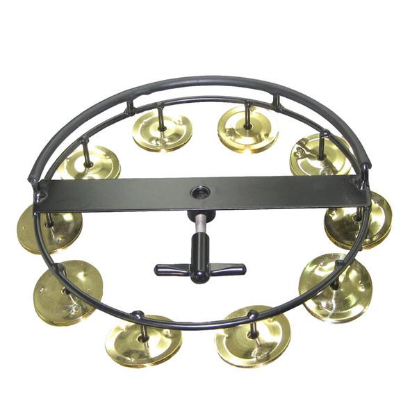 Tycoon Large Brass Hi Hat Tambourine - 10 Jingles