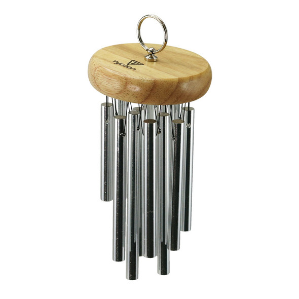 Tycoon 12 Chrome Plated Hand Chimes Siam Oak