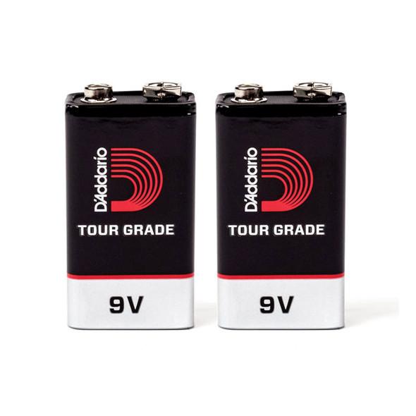 D'Addario Tour-Grade 9v Battery, 2 pack