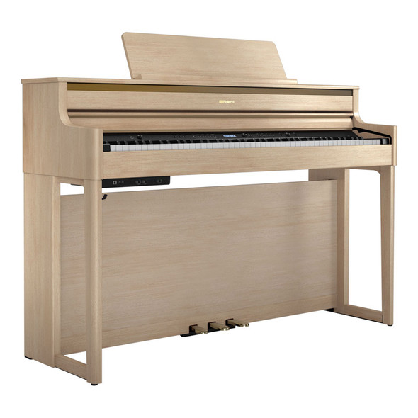 Roland HP704 Premium Concert Class Digital Piano, Light Oak