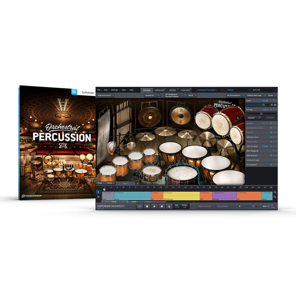 Toontrack SDX: Orchestral Percussion (Download)