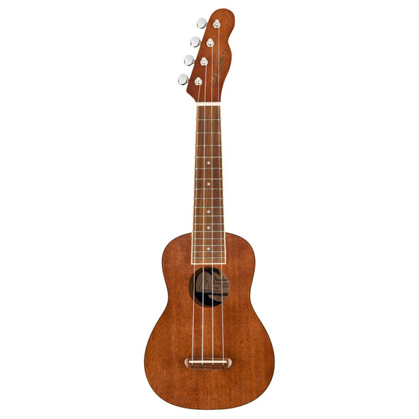 Fender Seaside Soprano Ukulele Pack, Natural