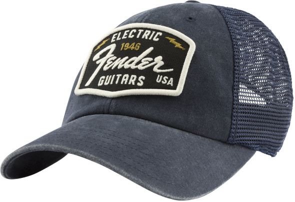 Fender Raglan Bones Fender Electric Hat, Navy