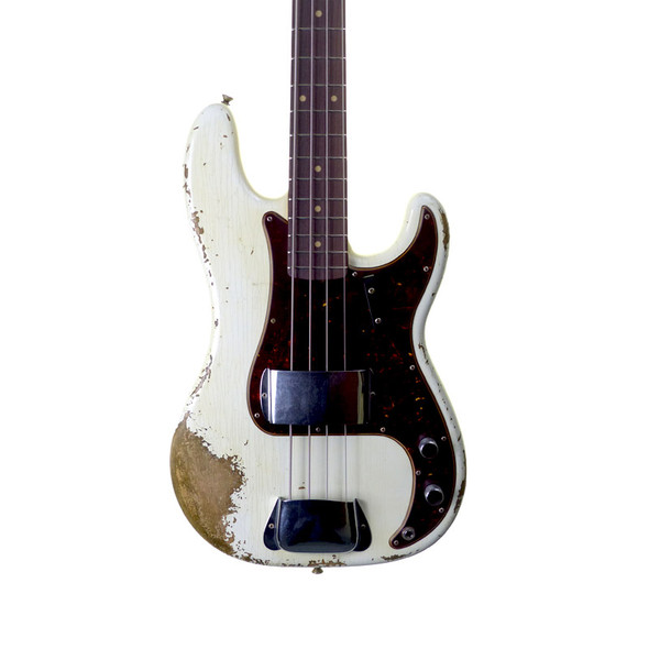 Fender Custom Shop Ltd Ed. 1969 Precision Bass, Heavy Relic. Aged Olympic White