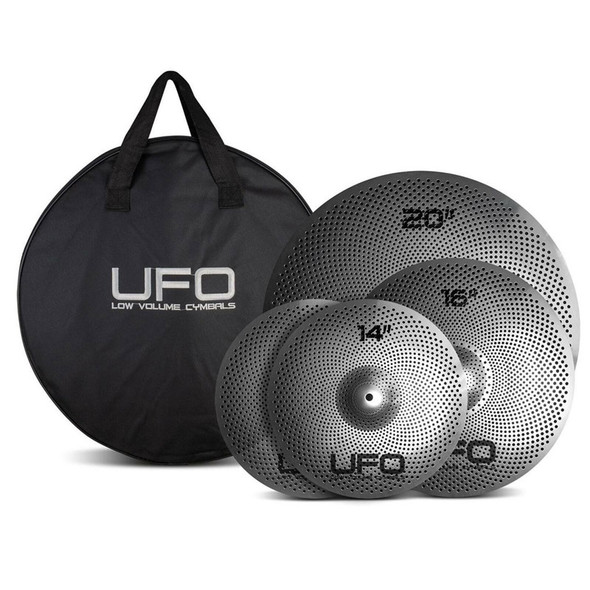 UFO Low Volume Cymbal Set 14hh,16,20, with Bag