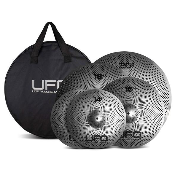 UFO Low Volume Cymbal Set XL,  Pr 14, 16, 18, 20 with Bag