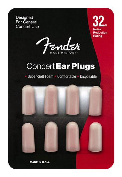 Fender Concert Series Foam Ear Plugs, 4 Pairs