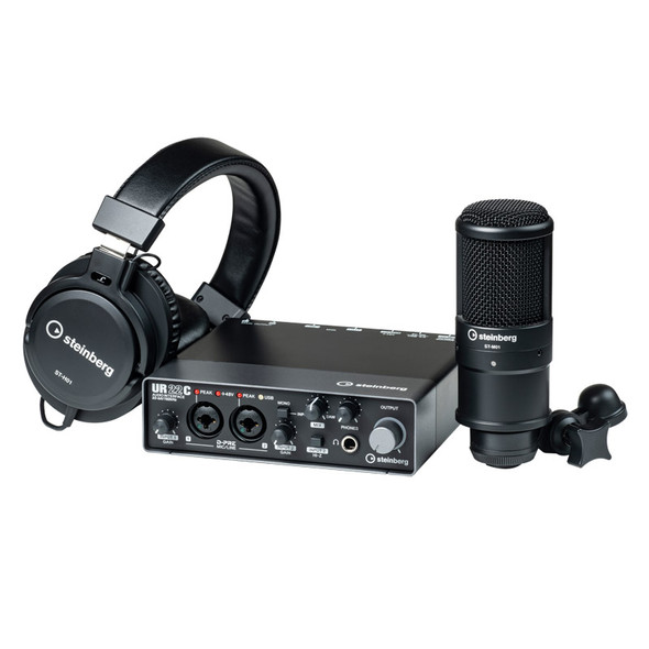 Steinberg UR22C Recording Pack (Including Studio Microphone & Studio Headphones)