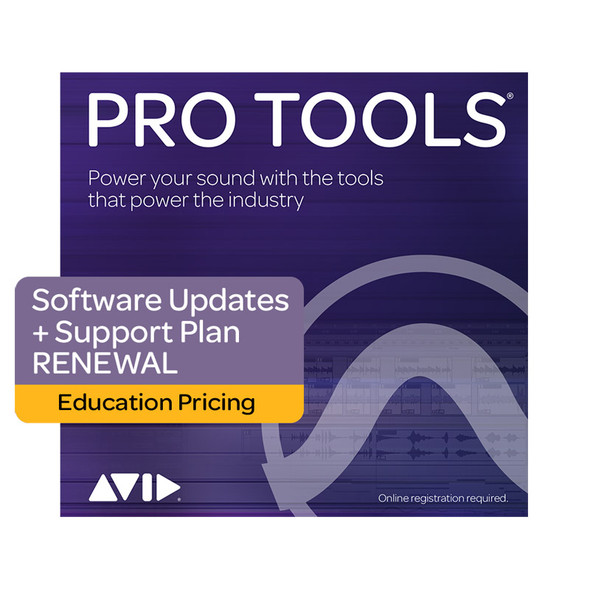 AVID Pro Tools 1-Year Software Updates+Support Plan RENEWAL - Education