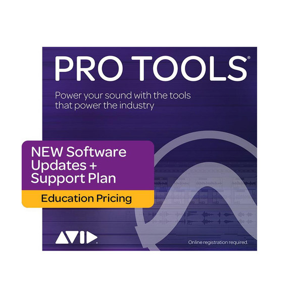 AVID Pro Tools 1-Year Software Updates+Support Plan NEW - Edu Institution Only