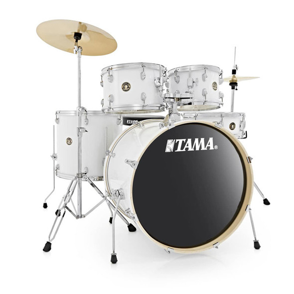 Tama Rhythm Mate Complete Drum Kit with Zildjian Cymbals in White