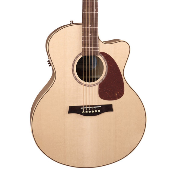 Seagull Performer Electro Acoustic Guitar, Mini Jumbo, High Gloss Maple with Bag