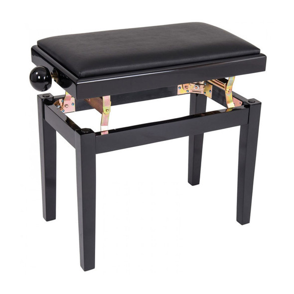 Kinsman Adjustable Piano Bench, Polished Gloss Black