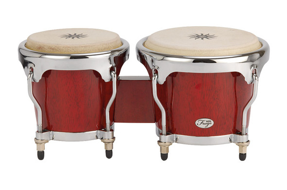 Natal NFU67R-HC Fuego Series Natural Wood Bongos in Gloss Red