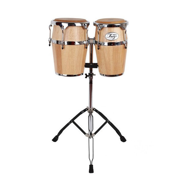 Natal NSC89-MAN 8 & 9 inch Conguitas with Stand, Matt Natural