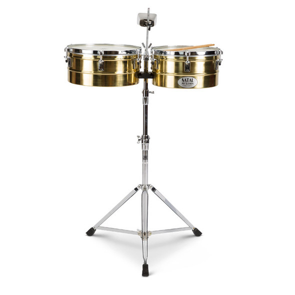 Natal NT1012TBRA Brass Timbales 10 + 12 inch with Stand