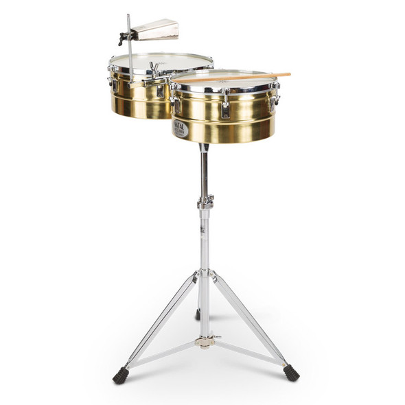Natal NT1213TBRA Brass Timbales 12 + 13 inch with Stand