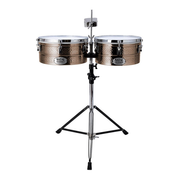 Natal NT1213TBRO Bronze 12 & 13 Inch Timbales with Stand