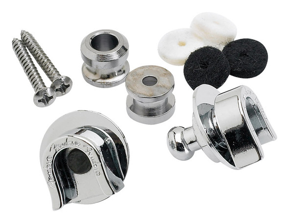 Fender Security Strap Locks & Buttons, Chrome