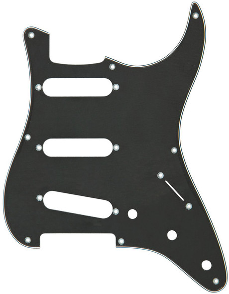 Fender Pickguard for Standard Strat (Black/White/Black)