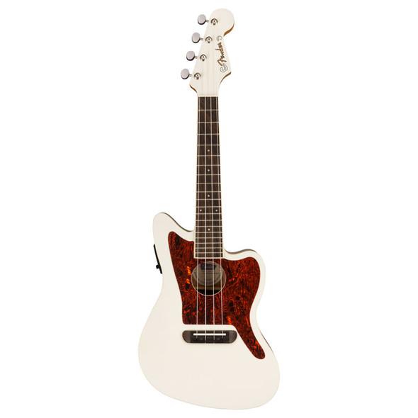 Fender Fullerton Jazzmaster Ukulele, Olympic White