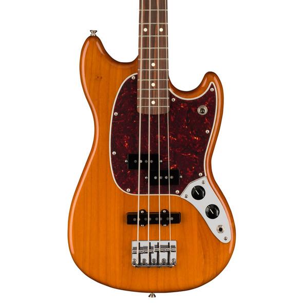 Fender Mustang Bass PJ, Pau Ferro, Aged Natural