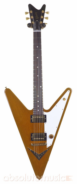 Gibson Reverse Flying V Electric Guitar, Amber, Ltd Edition GOTW 29 with Case (Pre-Owned)