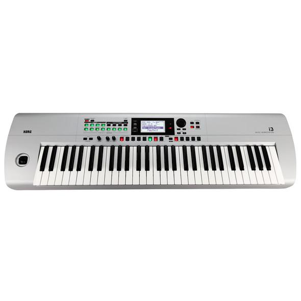 Korg I3 61 Key Workstation Synth, Silver