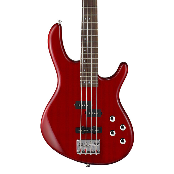 Cort Action Plus Bass Guitar, Trans Red
