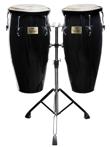 Tycoon Supremo Series 10 & 11 Inch Conga Set in Black