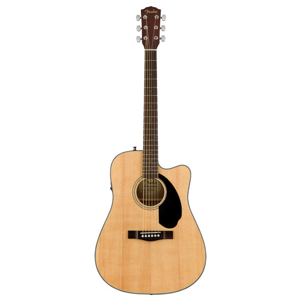 Fender CD-60SCE Dreadnought Electro-Acoustic Guitar, Walnut Fingerboard, Natural