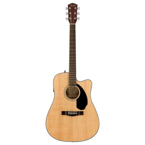Fender CD-60SCE Dreadnought Electro-Acoustic Guitar, Walnut Fingerboard, Natural