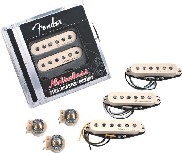 Fender Vintage Noiseless Stratocaster Pickups, Set of 3, Aged White