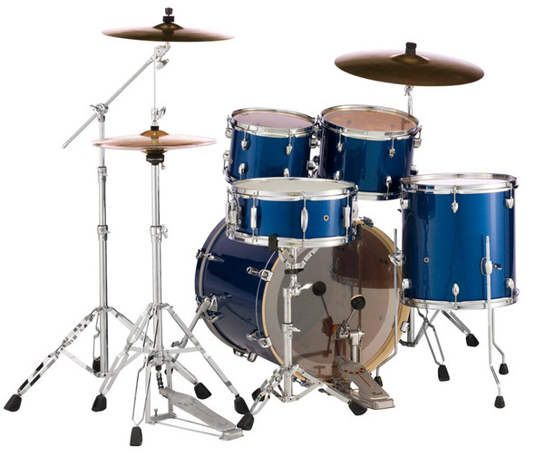 Pearl Export USA Fusion in High Voltage Blue complete with Hardware and Sabian SBR Cymbals