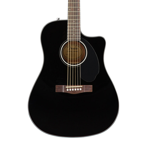Fender CD-60SCE Dreadnought Electro-Acoustic Guitar, Black, Walnut
