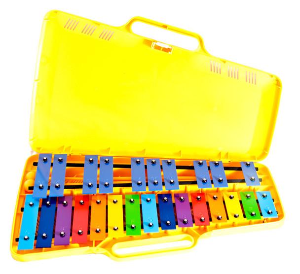 Angel AX2503 25 Note Glockenspiel, Coloured Keys