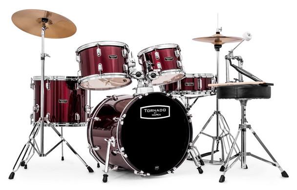 Mapex Tornado 18-Inch Compact Drum Kit, Dark Red
