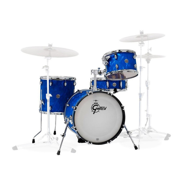 Gretsch Catalina Club 4-Piece Shell Pack in Blue Satin Flame