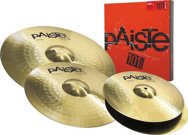 Paiste P101BS314 101 Cymbal Set. 14 Inch Hi-Hats,16 Inch Crash, 20 Inch Ride