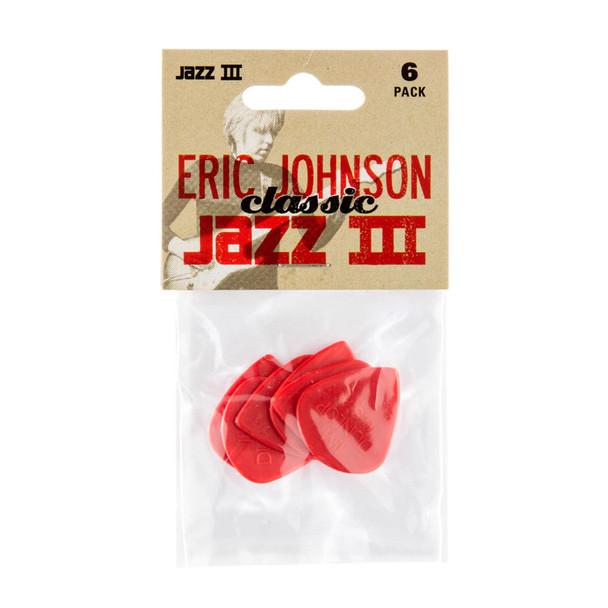 Dunlop Nylon Eric Johnson Classic Jazz III, Player Pack 6 Plectrums