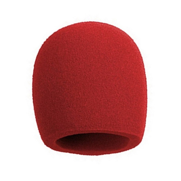 Shure A58WS foam windscreen (SM58, etc) RED