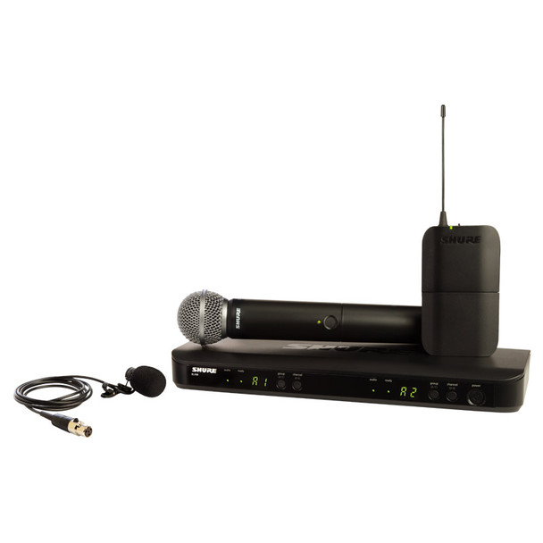 Shure BLX1288UK/W85 Wireless Combo System, SM58 Handheld and WL185 Lavalier