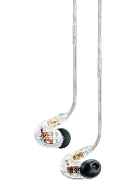Shure SE535 Sound Isolating Earphones, Clear