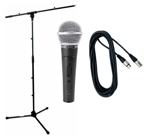 Shure SM58S Boom Stand and Cable Bundle