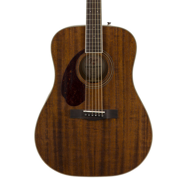 Fender PM-1 Dreadnought All Mahogany Left Hand Acoustic Guitar, Natural w Case