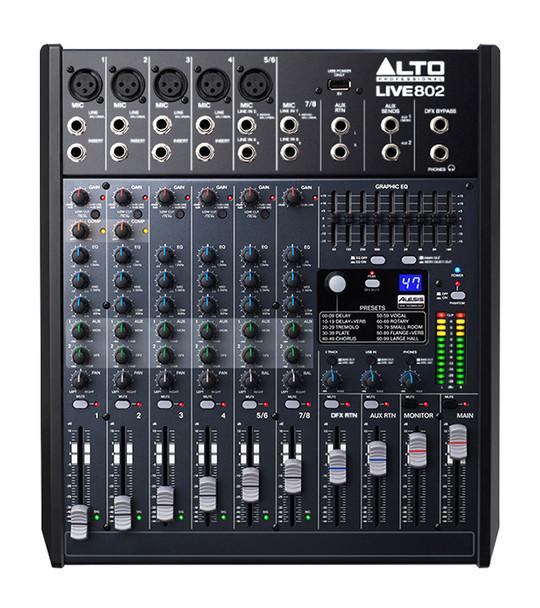 Alto Live 802 8 Channel Mixing Desk