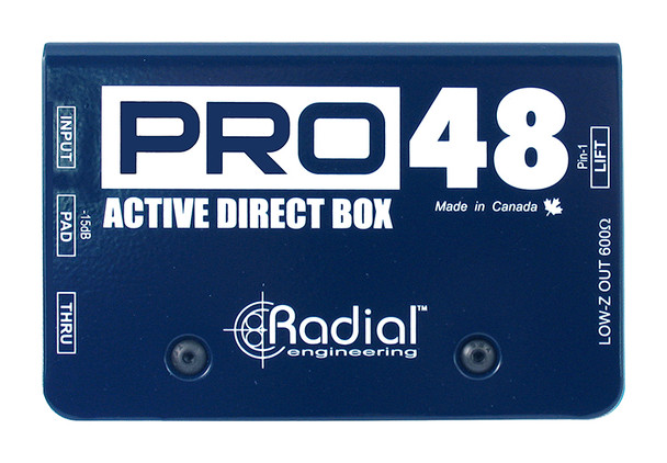 Radial Pro48 Phantom powered active direct box