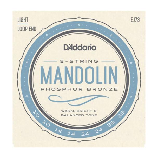 D'Addario EJ73 Phosphor Bronze Mandolin Strings, Light 10-38