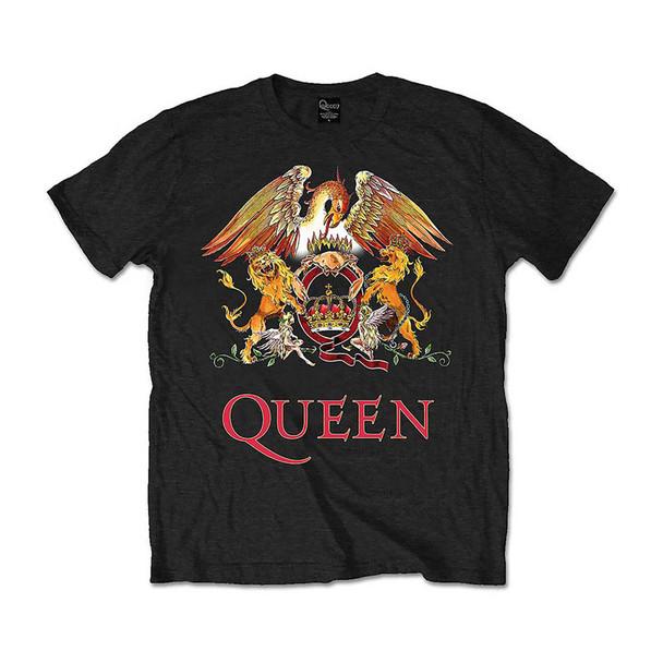 Queen Unisex Tee: Classic Crest (Large)
