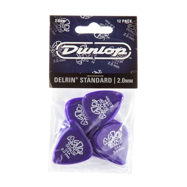 Dunlop Delrin 500 Picks 2.0mm, Pack of 12